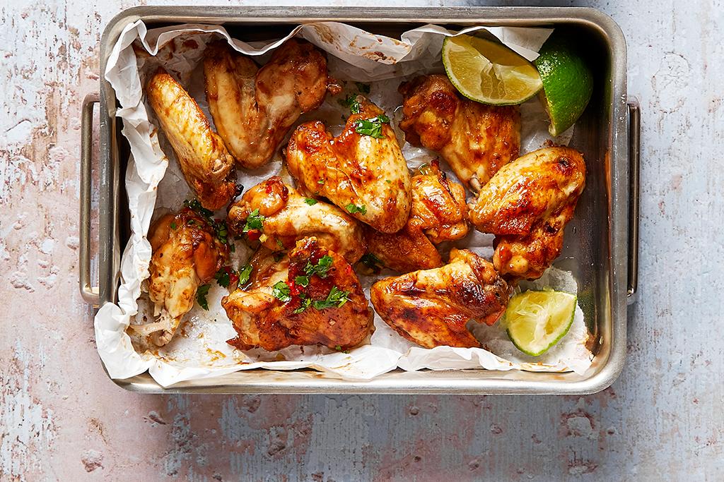 Chicken-Wings mit Ingwer-Dip